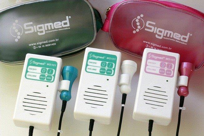 Detector fetal tipo portátil tecnologia digital